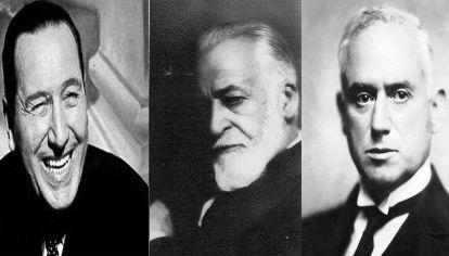 Juan Domingo Perón, Manuel Güiraldes y Benjamín Villafañe.