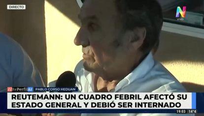 Preocupación por la salud Carlos Reutemann