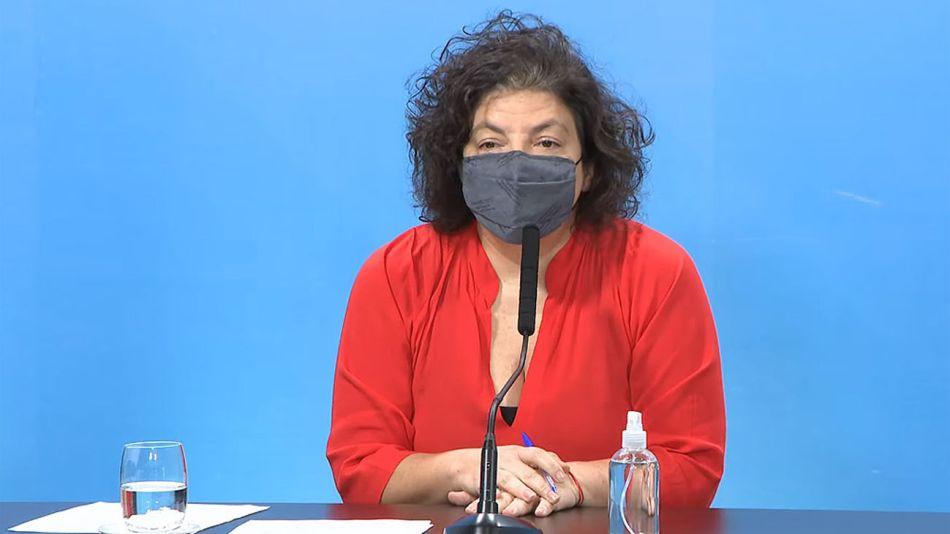 Conferencia de prensa de la ministra de Salud, Carla Vizzotti 20210602