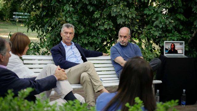 Macri y Larreta en cumbre del PRO