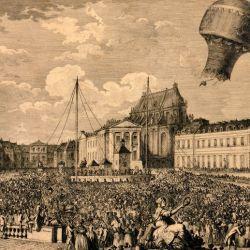 Los hermanos Montgolfier lograron crear un globo hecho de seda y papel que contaba con 10 metros de diámetro