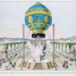 El globo aerostático se elevó entre unos 1.600 a 2.000 metros de altura.
