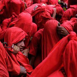 Venezuela, Yare: Personas disfrazadas participan en el tradicional festival folclórico    Foto:Jesús Vargas / DPA
