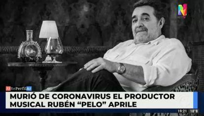 "Murió de coronavirus el productor Rubén ""Pelo"" Aprile"