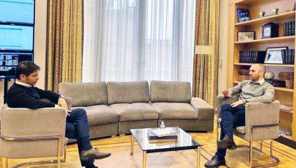 Reunión. El gobernador y el ministro de Economía dialogaron el miércoles pasado. Lideran duras negociaciones por la deuda.