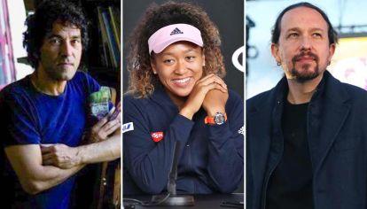 Imagen pública. Salvatore Garau, Naomi Osaka y Pablo Iglesias prefirieron no hablar.
