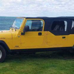 Este particular Jeep se construyó a partir de la versión Wrangler Unlimited con 4 puertas.
