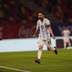 Messi grita su gol ante Chile