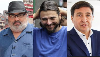 Jorge Lanata, Juan Grabois y Daniel Arroyo