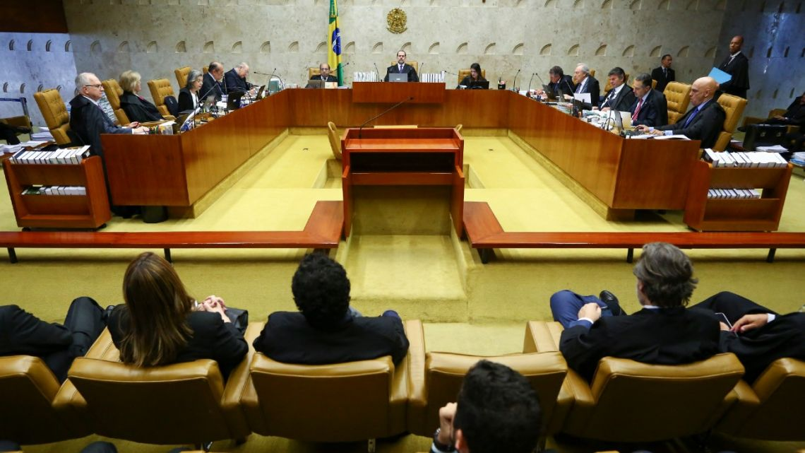 This file photo taken on November 7, 2019, shows a general view taken during a session at the Supreme Court of Brazil.