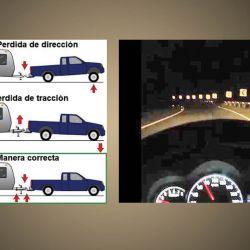 El enganche debe quedar a nivel con el vehículo detenido. Caso contrario perderemos dirección, tracción e iluminación de la calzada. Es importante regular los faros de la unidad tractora.