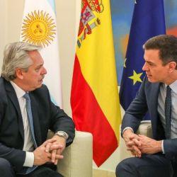 Alberto Fernández recibe al presidente español