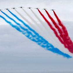 La unidad de demostración de acrobacias aéreas de la fuerza aérea francesa  | Foto:Stephane Mahe / Piscina / AFP
