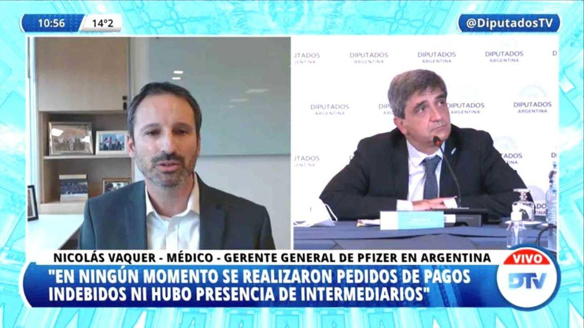 Pfizer's representatives in Argentina address Congress, as captured by a live videostream.
