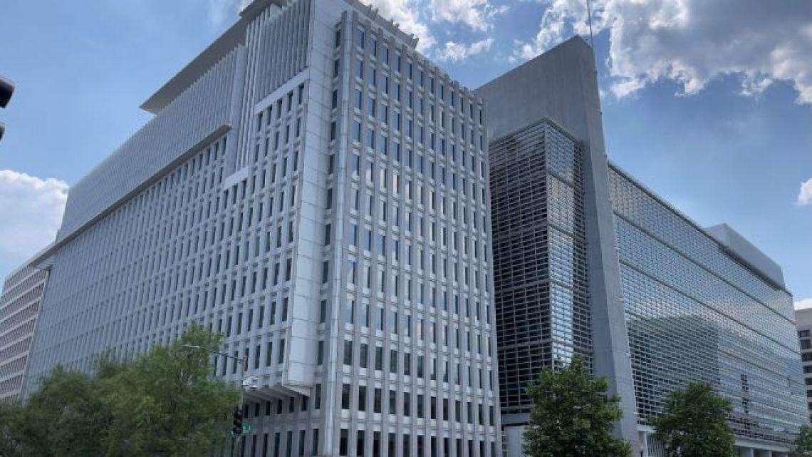The World Bank headquarters in Washington, DC, USA, May 20, 2021.