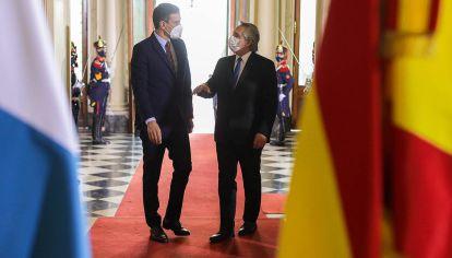 Alberto Fernández y Pedro Sánchez