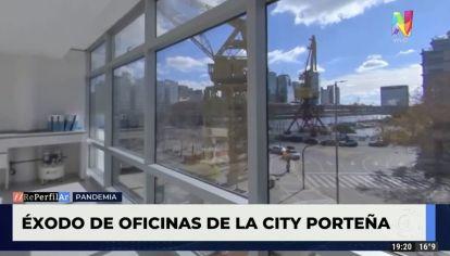 Éxodo de oficinas de la city porteña