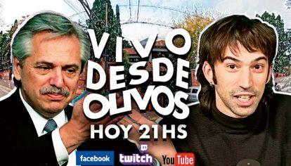 """Pedro """"El Cadete"""" Rosemblat entrevistó a Alberto Fernández en la Quinta de Olivos"""