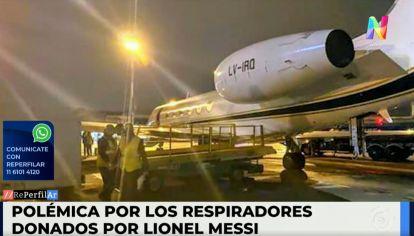 Respiradores donados por Messi