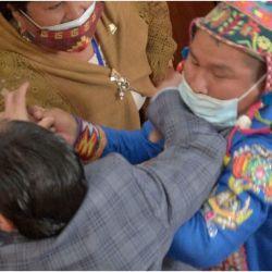 Pelea en congreso de Bolivia | Foto:CEDOC