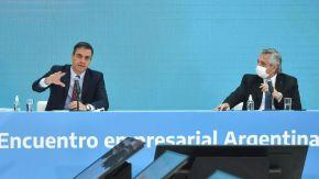 Pedro Sánchez y Alberto Fernández