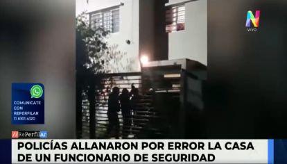 Allanamiento por error en La Plata