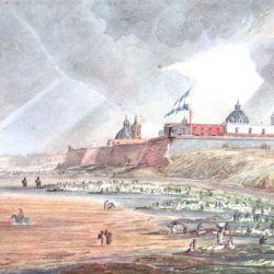 La ceremonia fundacional tuvo lugar en un sitio cercano a la boca del Riachuelo.