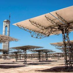 Cerro Dominador, the first thermosolar power plant in Latin America, in Antofagasta, Chile on February 26, 2019.