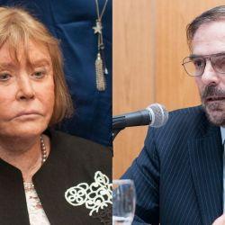 María Servini y Gustavo Hornos. | Foto:Cedoc.