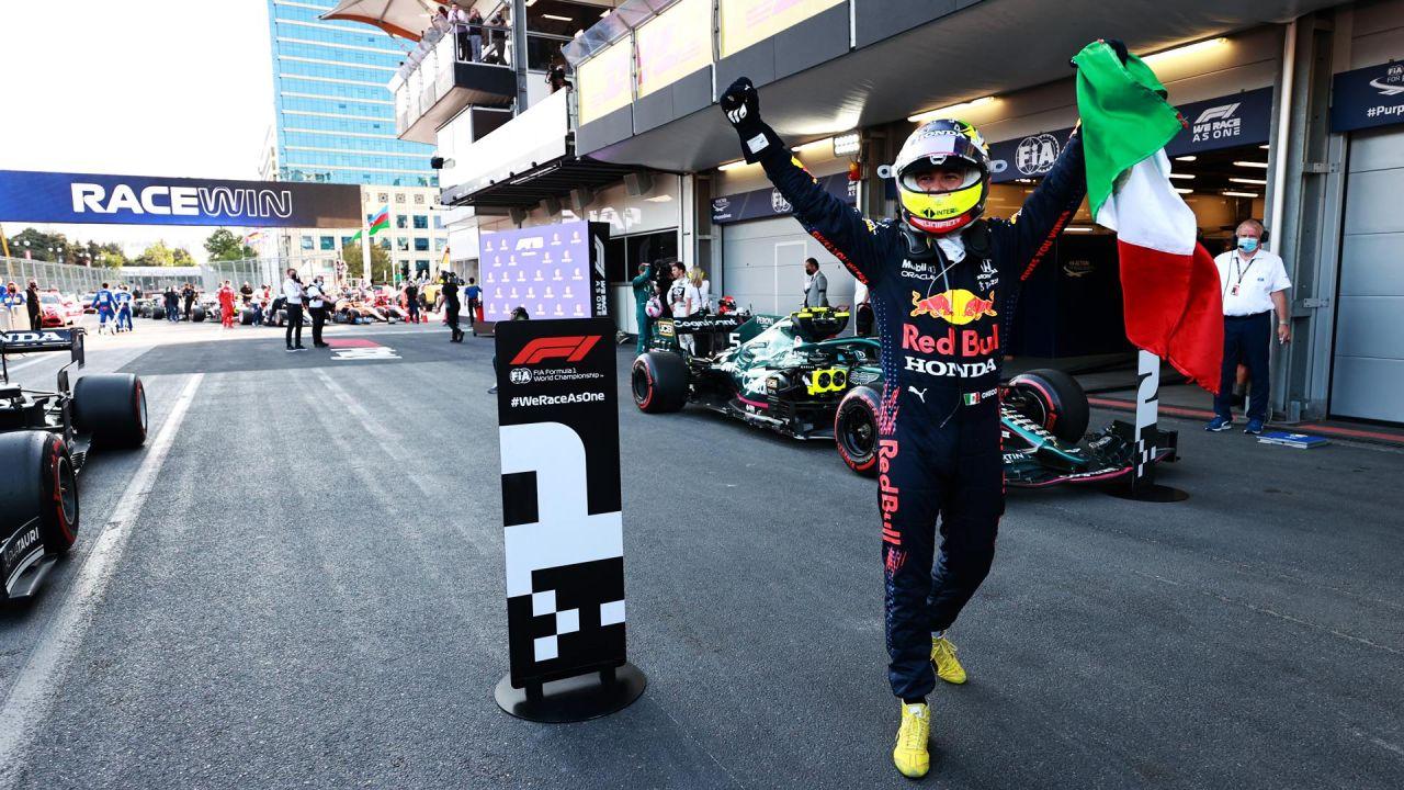Sergio Checo Pérez Victoria Red Bull Gran Premio Azerbaiyán 2021