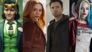 Loki, Wanda, el Soldado de Invierno y Harley, villanos redimidos.