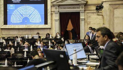 Diputados, durante la sesión en que se aprobó la ley que modifica el reparto de la pauta.