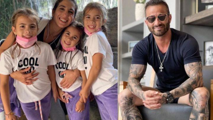 El reencuentro de Martín Baclini con las hijas de Cinthia Fernández
