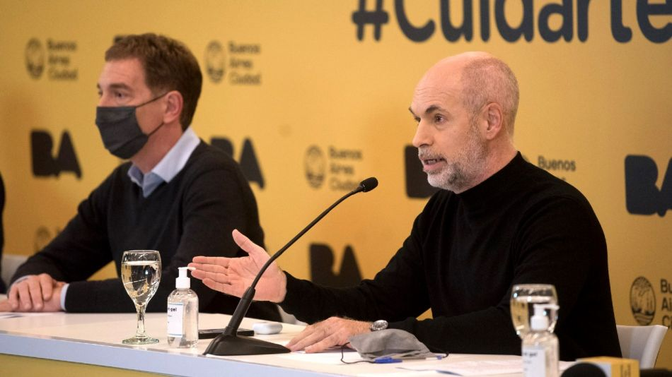 Horacio Rodríguez Larreta, al anunciar la flexibilización de las restricciones.