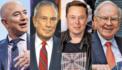 Jeff Bezos - Michael Bloomberg - Elon Musk - Wwarren Buffett.