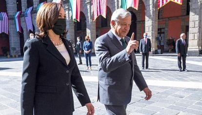 Visitas internacionales. Kamala Harris estuvo en México y Guatemala.