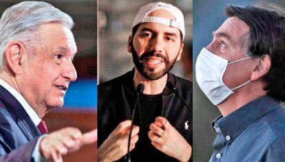 Casos. AMLO (México), Bukele (El Salvador) y Bolsonaro (Brasil). Ejemplos de liderazgos fuertes.