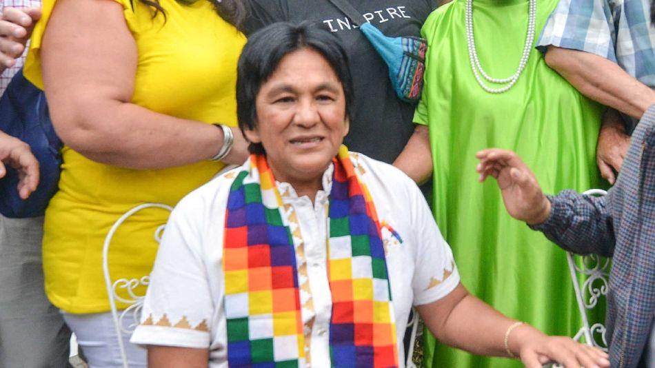 Milagro Sala, dirigente de la Tupac Amaru.