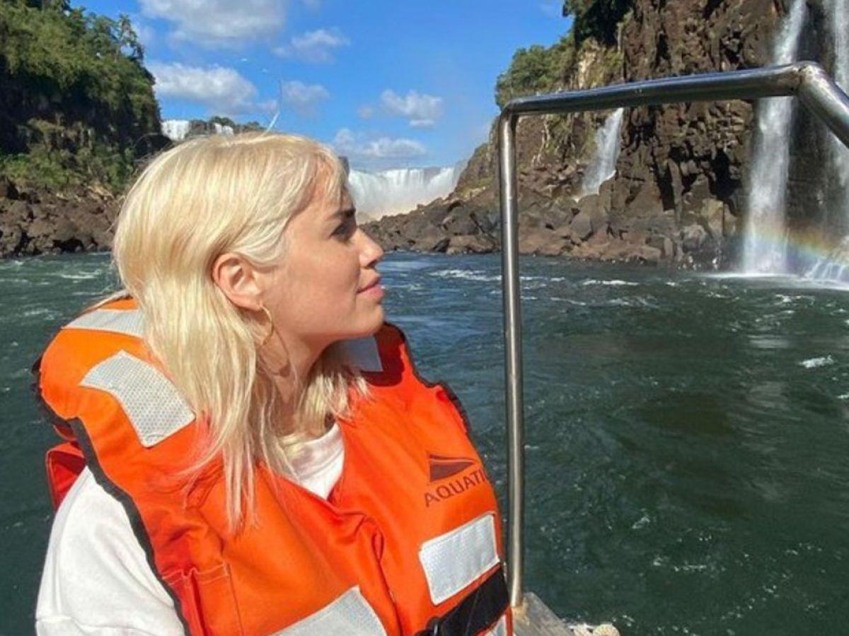 Caras | Lali Espósito viajó a las Cataratas del Iguazú con DavidVictori