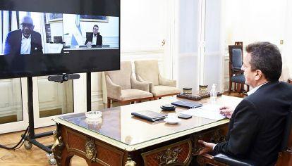 Diálogo. Massa es un canal habitual con el país norteamericano.