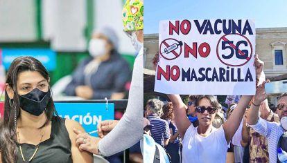 A favor y en contra. Pese a los beneficios de la vacunación, en el mundo surgieron grupos antivacunas.