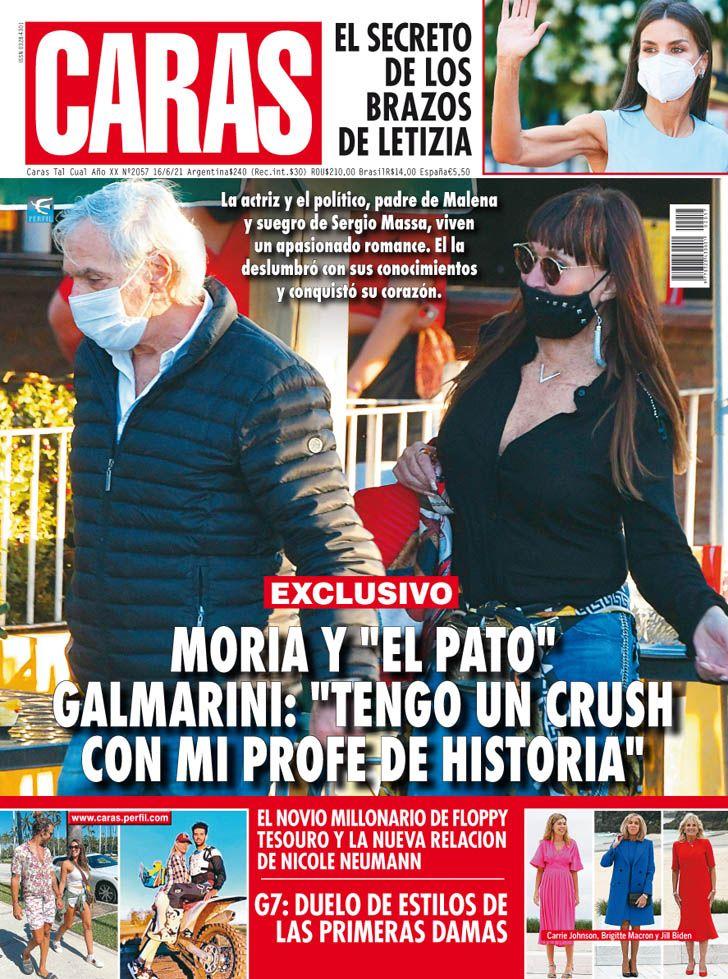 """El romance de Moria Casan y """"El Pato"""" Galmarini"""