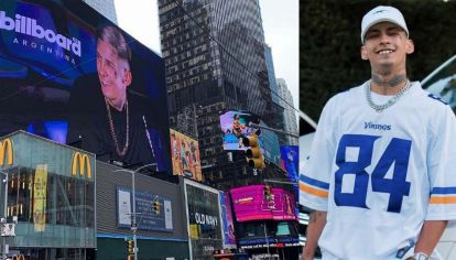 L-Gante llegó a los míticos carteles de Times Square