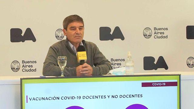 Fernán Quirós, ministro de salud de la Ciudad de Buenos Aires