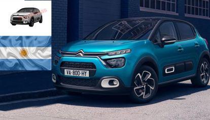 Citroën registra el C3 europeo en Argentina