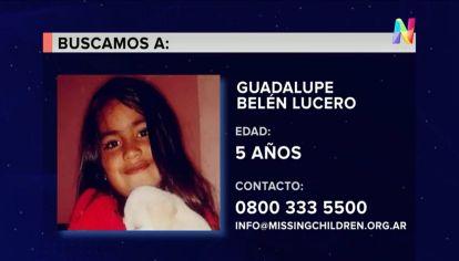 Guadalupe Lucero tiene 5 años y está desaparecida desde el lunes en San Luis