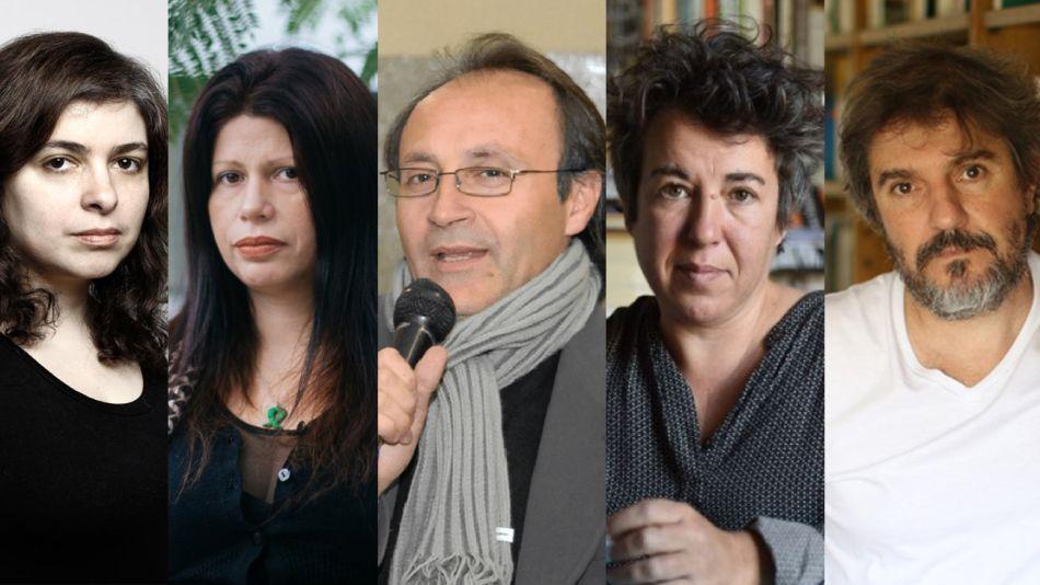 Juan José Becerra, Mariana Enriquez, Jorge Consiglio, Gabriela Cabezón Cámara y Dolores Reyes.