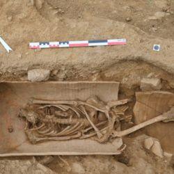Los sarcófagos fueron recortados para que pudieran encajar perfectamente entre ellos.