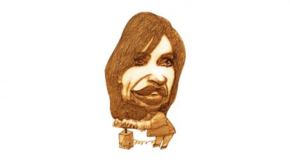 Cristina Fernández de Kirchner, por Pablo Temes.