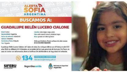 Últimas noticias de la niña desaparecida en San Luis
